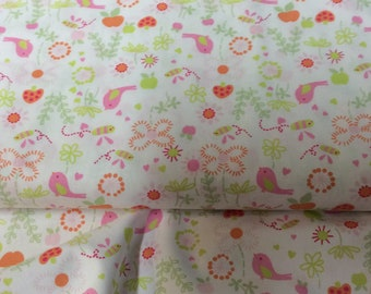 Fabric / Birds and Flowers / Smocking Fabric / Dress Fabric / Quilt Fabric / 100% Cotton / Fabric Finders / 1030