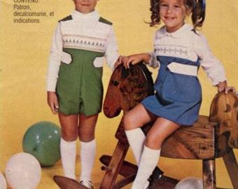 Smocked Pattern / Boys Pattern / Vintage Pattern / Romper Pattern / Old Sewing Pattern / Smocked Romper