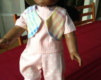 "Doll Clothes / 18"" Doll Clothes / Pants / Vest / Shirt / Supports Women for Women International"