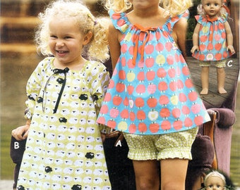 Night Gown Pattern / Easy / Shortie Pajamas / Long Nightgown / Sleeveless or Long Sleeves / Matching Doll Nightgown /Olive Ann Designs OAD76