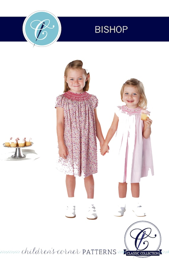 Smocked Dress Pattern / Smocked Bishop Pattern /Updated Pattern / Classic Bishop Pattern /Childrens Corner Pattern /  3