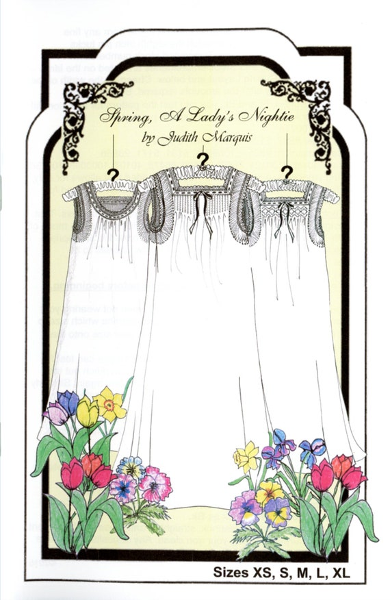 Nightgown Pattern / Women's Nightgown / Heirloom Nightgown Pattern / Smocked, Pleated or Gathered Neckline /Smocking Plates / Judith Marquis