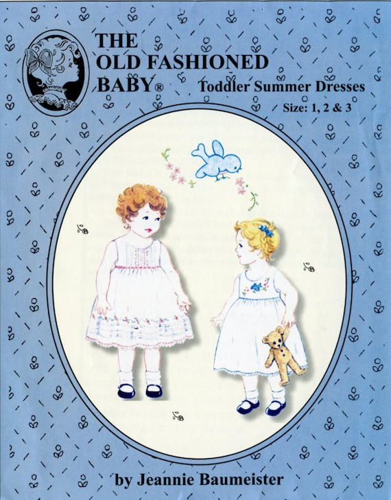 Summer Dress Pattern / Toddler Dress Pattern /Embroidered Dress Pattern /Tucked Dress Pattern / by The Old Fashioned Baby / OF35