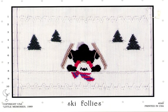 Christmas Smocking Plates /Smocking / Smocked Dress / Christmas Smocking Design / Christmas Dress / Smocked Romper / Ski Follies