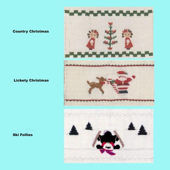 Christmas Smocking Plates /Smocking /Smocked Dress / Smocking Design / Christmas Dress / Smocked Romper /