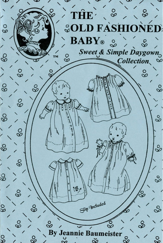 Daygowns Pattern / Sweet & Simple Daygowns  / Traditional Baby Pattern / Girls / Boys / by The Old Fashioned Baby / OF14