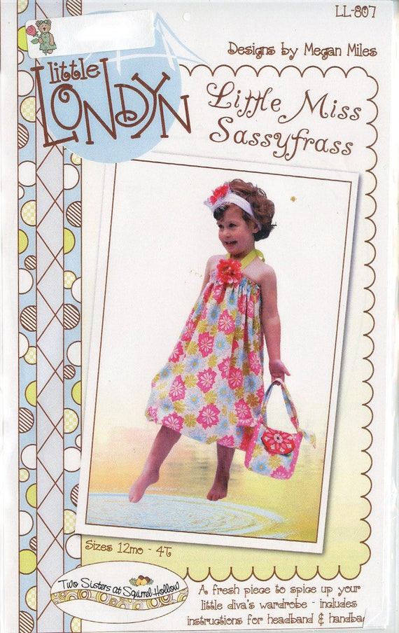 Sundress Pattern / Headband pattern / Handbag Pattern / Little Miss Sassyfrass Pattern / Easy Pattern / Little Londyn Patterns
