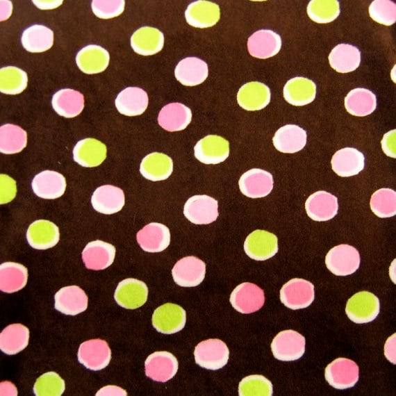SALE--Minky Dots on Brown