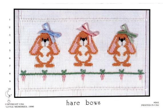 Easter Smocking Plates / Hare Bows / Smocking /Smocked Dress / Easter Outfit / Smocked Romper / Smocking Plate / Little Memories