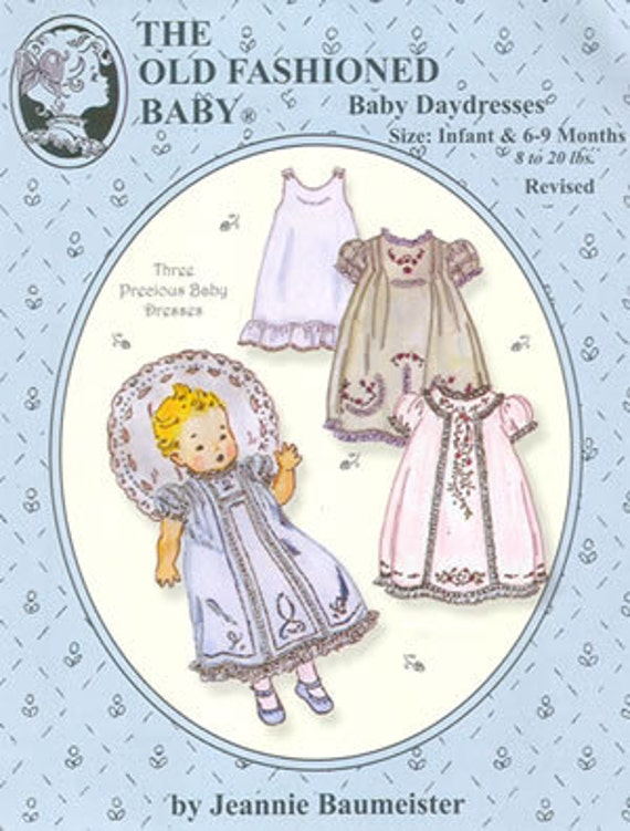 Baby Daydresses / Baby Day Dress Pattern / 3 Baby Dresses Pattern  / Slip Pattern /  by The Old Fashioned Baby / OF32