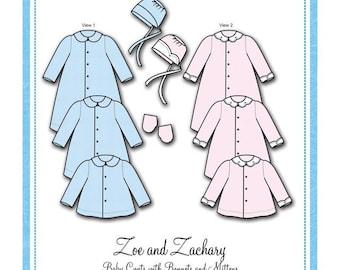 Coats / Infants / Boys / Girls / 3 Lengths / 2 Collar Styles / 2 Sleeve Lengths / Bonnie Blue 111