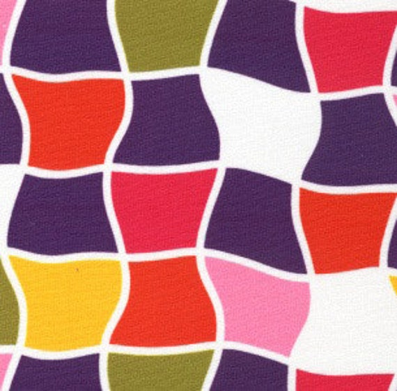 Print Fabric / Bold Geometric Fabric / Cotton /Dress Fabric / Quilt Fabric Multicolored Fabric / Fabric Finders 1230