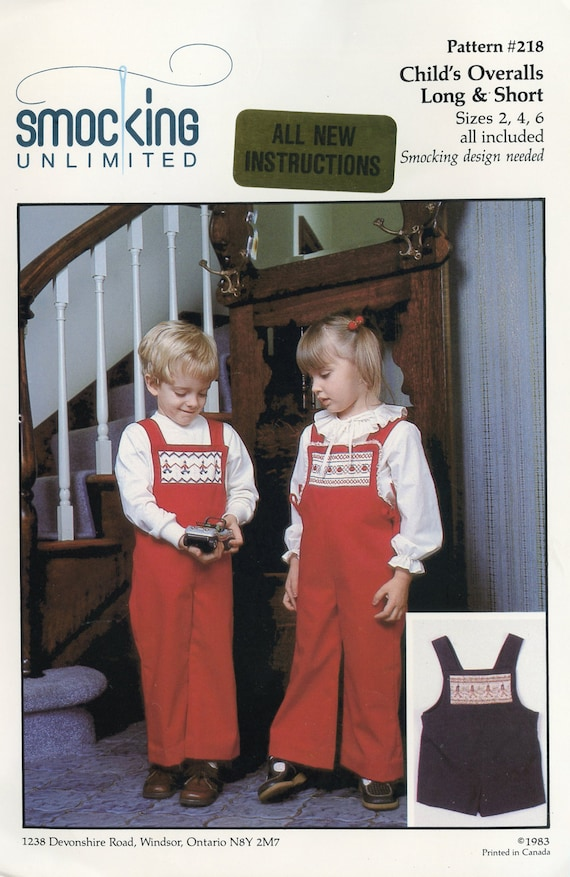 Smocked Overalls / Vintage / Smocked Inset / Long Romper / Short Romper / Boys / Girls / High Back / Back Pockets / Only 1 Available