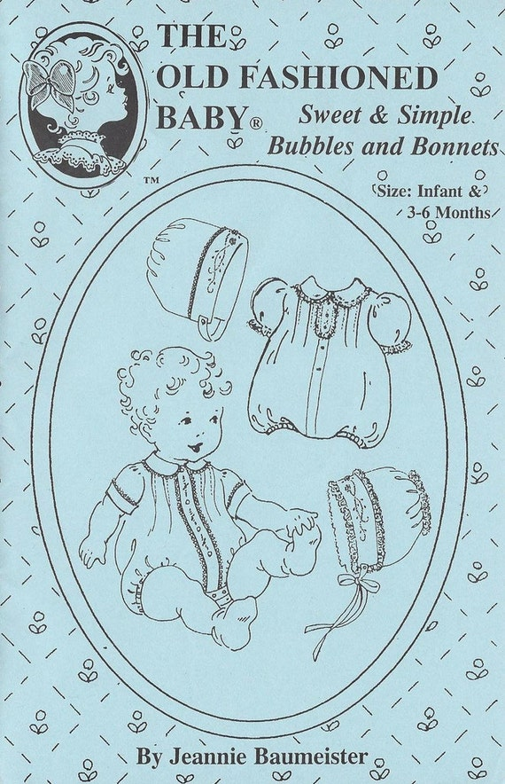Sweet & Simple Bubbles and Bonnets Pattern / Bubbles Pattern / Bonnets Pattern / Embroidery / Jeannie Baumeister The Old Fashioned Baby / 25