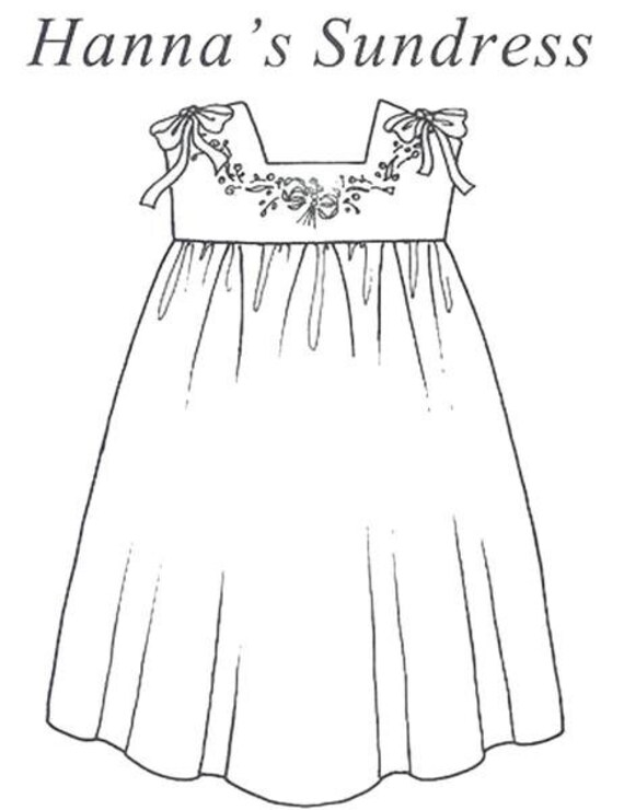 Sundress  Pattern / Pinafore Pattern / Embroidered Yoke / Easy Construction / Detailed illustrations / Hanna's Sundress / Collar's etc