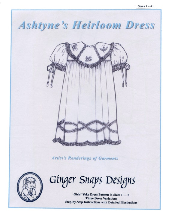 Heirloom Dress Pattern / 3 Variations / Easy / Detailed | Etsy