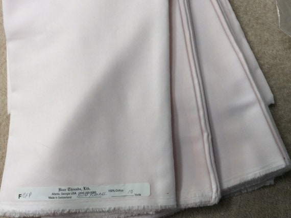 "Swiss Flannel / Pink / Heirloom Fabric / Smocking Fabric /  Layette / Embroidery /  55"" Wide / Bear Threads /"