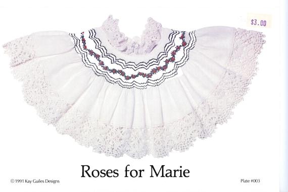 Smocking Plates / Geometric Smocking / Roses For Marie / Smocked Bishop Dress  / Smocked Collar / Vintage Plate /