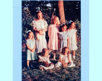 Smocked Dress Pattern / Bishop Pattern / Long, Short or Angel Sleeves /  Smocked Blouse / Dropped Waist Variation / by Chery Williams