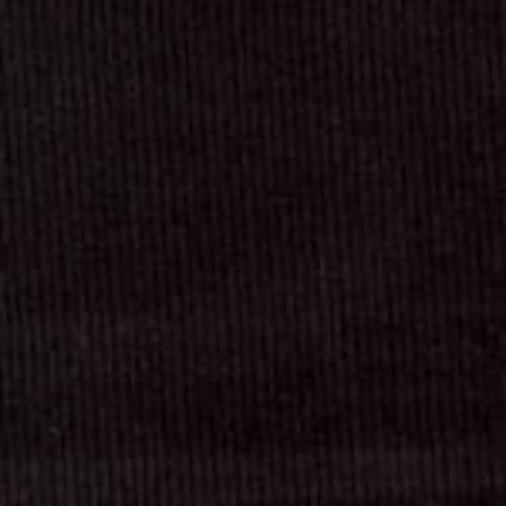 "Corduroy Fabric / Black Corduroy / Fine Wale Corduroy /Baby Wale Corduroy / 54"" wide /  by Fabric Finders"