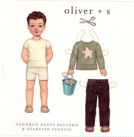 Pants Pattern / Oliver +s Pattern / Girls or Boys / Elastic Waist / Drawstring / Front and Back Pockets / Sandbox Pants