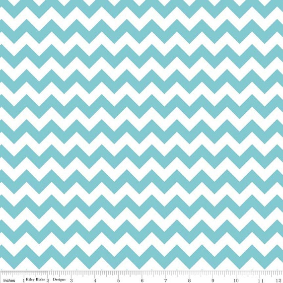Chevron Fabric in Aqua from Riley Blake  C340-20