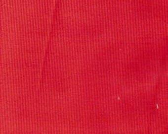 "Corduroy / Red Corduroy / Baby Wale Corduroy  / Fine Wale Corduroy / 21 Wale Corduroy / by Fabric Finders 54"" wide"