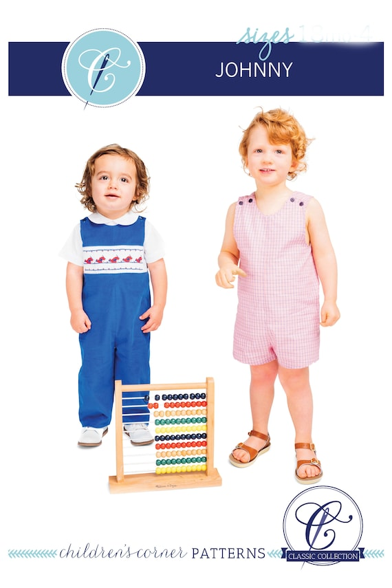 Smocked Romper Pattern / Snap Crotch / Boys or Girls / Overalls / Smocked Overalls / Childrens Corner Pattern / Johnny Pattern /  #260