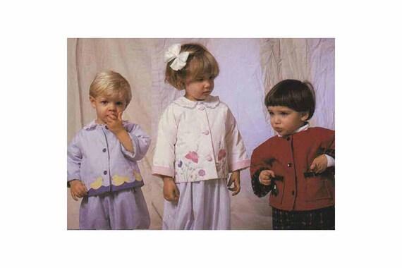 Vintage Pattern / Jacket Pattern / Lined Jacket / Easy / Quilted / Robins Little Jacket / Unisex / Appliqués / Childrens Corner Pattern- 216
