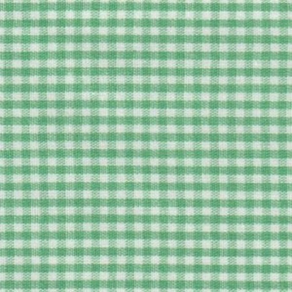 """Gingham/ Emerald Green Gingham / Small Gingham / 1/16"""" Gingham / 100% Cotton / 60"""" wide / Fabric Finders /"""