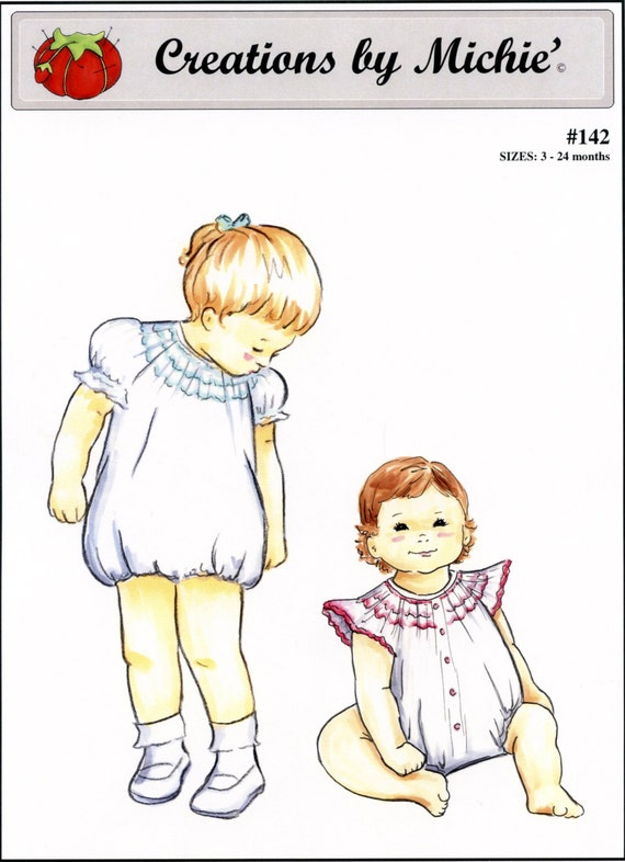 Bubble / Bishop Bubble / Smocked Bubble / Angel Sleeves / Puffed Sleeves /  by Creations by Michie #142
