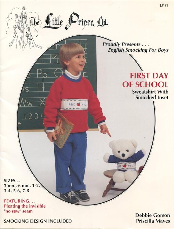 Smocked Sweatshirt Pattern  / Vintage Pattern / Sweatshirt Pattern / Infant / Child / Smocked Pattern / The Little Prince