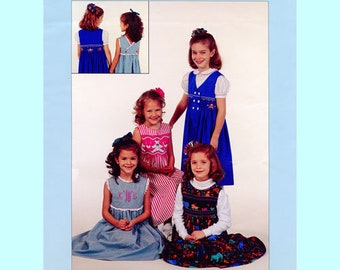 Jumper Pattern / Sundress Pattern / Wrapped Jumper / Smocked Jumper / Plain Jumper / Smocked Inset / Back wrap / Front Wrap  Chery Williams