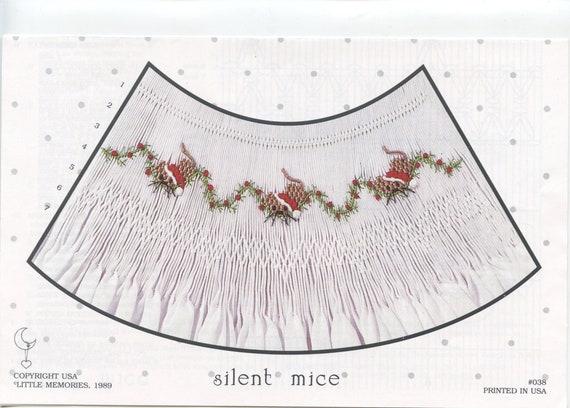 Christmas Smocking Plates /Smocking / Smocked Dress / Vintage Smocking Design / Christmas Dress / Smocked Romper / silent mice