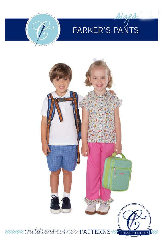 Parkers Pants/ Unlined Pull-on Pants / Slim Pants /  Capris /  Long Shorts / Shorts / Easy / Cargo Pocket  / Childrens Corner / 285