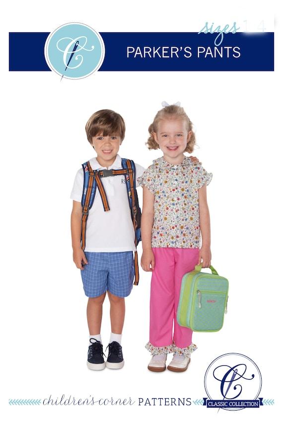 Parkers Pants/ Unlined Pull-on Pants / Slim Pants /  Capris /  Long Shorts / Shorts / Easy / Cargo Pocket  / Childrens Corner / 285