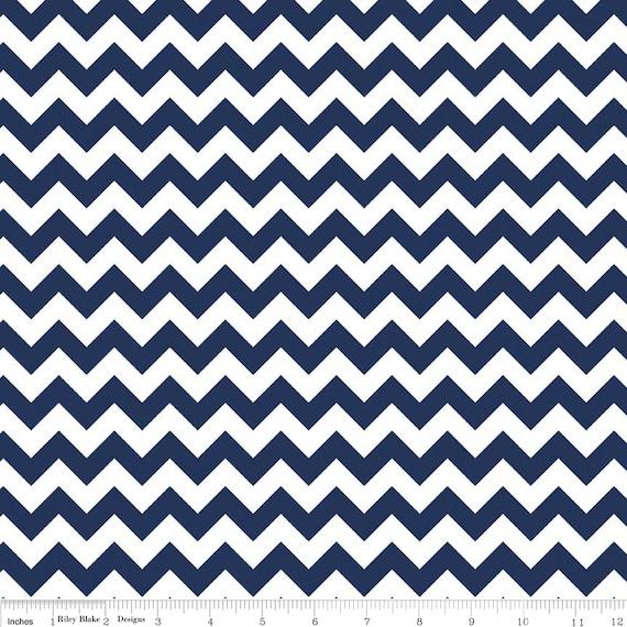 Navy Chevron Fabric from Riley Blake