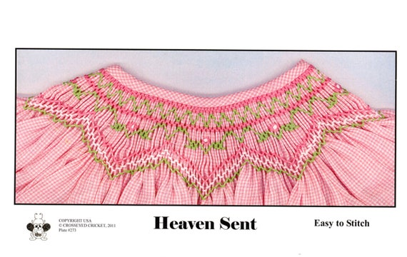 Smocking Plates / Geometric Smocking /Heaven Sent / Smocked Bishop Dress  / Smocked Romper / Easy / CEC Smocking Plates / 273