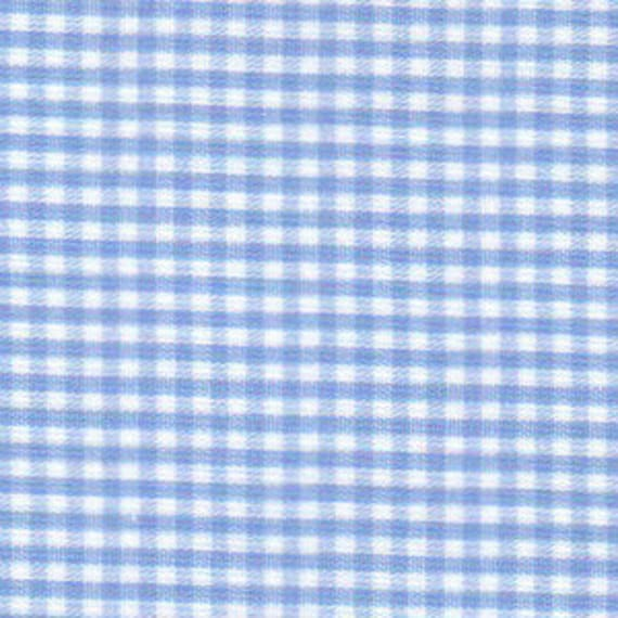 "Gingham/ Sky Blue Gingham / Small Gingham / 1/16"" Gingham / 100% Cotton / 60"" wide / Fabric Finders /"