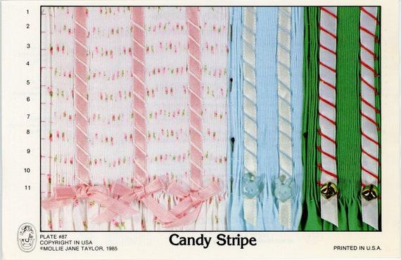 Smocking Plates / Candy Stripe / Smocking / Smocked Dress / Smocking Design / Easter / Smocked Romper / Simple / Vintage Smocking Plate /