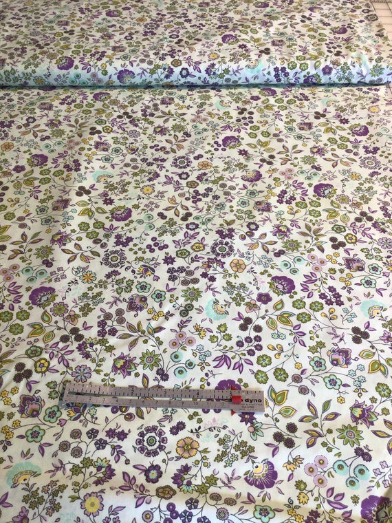 """Fabric / Beautiful Floral Print/ Smocking Fabric / Dress Fabric / Quilt Fabric / Childrens Clothes / Mask Fabric / 100% Cotton / 60"""" W /"""