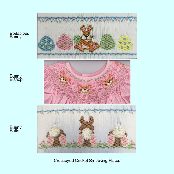 Easter Smocking Plates /Smocking /Smocked Dress / Easter Outfit / Smocked Romper / Smocking Plate / Cross Eyed Cricket Smocking Plates