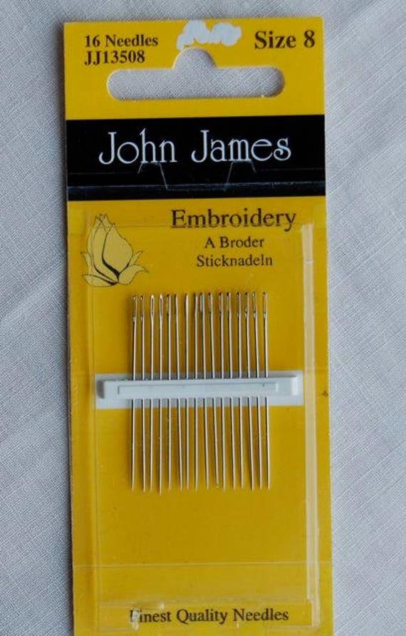 Smocking Needles /Hand Sewing Needles / 8 Crewel Needles / 5 Crewel Needles / 7 Sharps Needles / Richard Hemming / John James