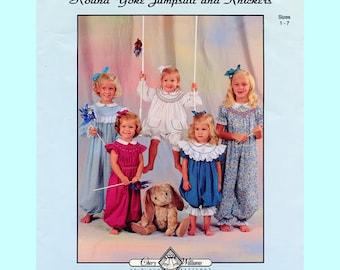Jumpsuit Pattern / Knickers Pattern / Round Yoke / Smocked / Long or Short Sleeves / Vintage / Chery Williams