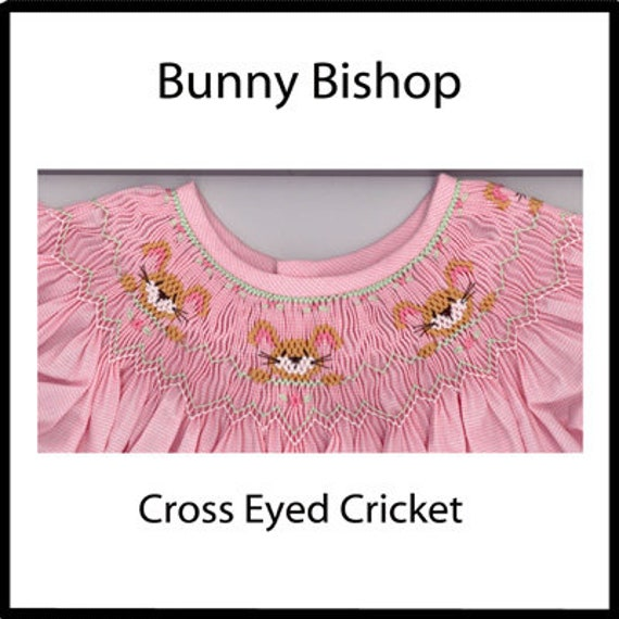 Easter Smocking Plates / Bunny Bishop / Smocking /Smocked Dress / Smocked Bishop / Smocked Romper / Smocking Plate / CEC Smocking Plates