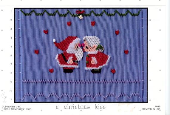 Christmas Smocking Plates /Smocking / Smocked Dress / Vintage Smocking Design / Christmas Dress / Smocked Romper / Christmas Kiss