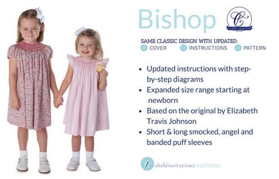 Smocked Dress Pattern / Smocked Bishop Pattern /Updated Pattern / Classic Bishop Pattern /Childrens Corner Pattern /  3