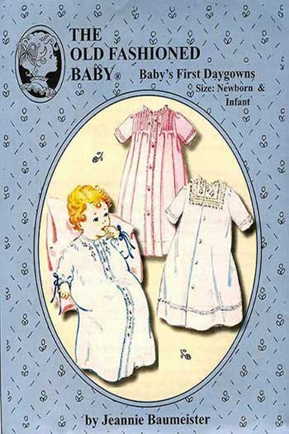 Daygowns / Baby's First Daygowns Pattern / Traditional patterns / Girls / Boys/  by The Old Fashioned Baby / 37