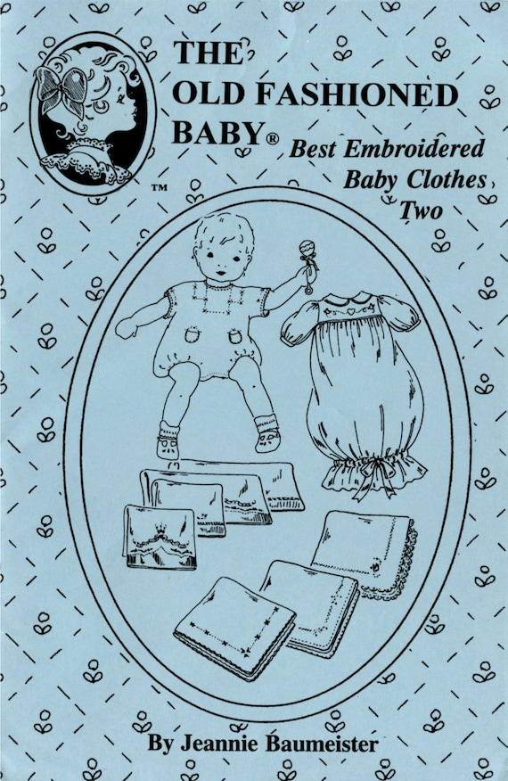 Baby Clothes / Layette / Best Embroidered Baby Clothes  / Receiving Blankets / Embroidery /  Jeannie Baumeister  / Old Fashioned Baby / 21