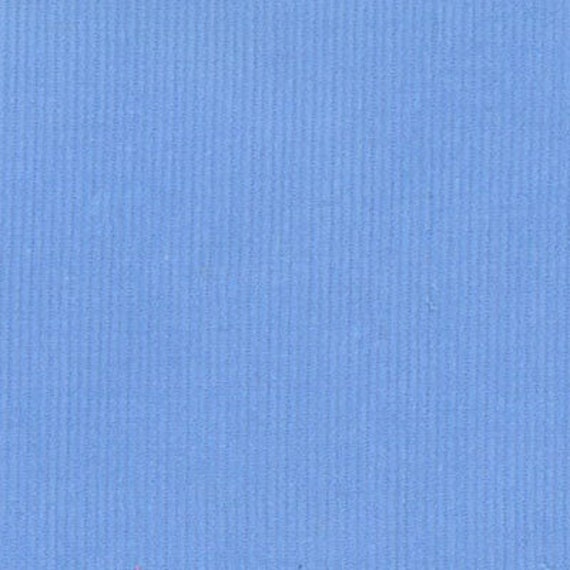 "Corduroy / Cornflower Blue Corduroy / Baby Wale Corduroy  / Fine Wale Corduroy / 21 Wale Corduroy / by Fabric Finders 54"" wide"